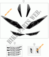 STICKERS voor KTM 690 DUKE BLACK ABS 2015