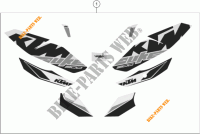 STICKERS voor KTM 200 DUKE BLACK 2017